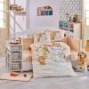 Детский комплект постельного белья поплин «Snowball» беж Hobby