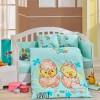 Детский комплект постельного белья поплин «Lovely» мятный Hobby