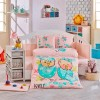 Детский комплект постельного белья поплин «Lovely» персик Hobby