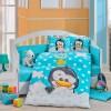 Детский комплект постельного белья поплин «Penguin» голуб Hobby