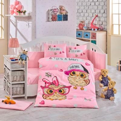 Детский комплект постельного белья поплин «Cool Baby» розовый Hobby