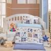 Детский комплект постельного белья поплин «Sweet Home» голуб Hobby