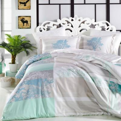 Комплект постельного белья сатин «Elsa» аква Hobby