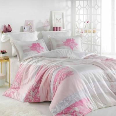Комплект постельного белья сатин «Elsa» розовый Hobby