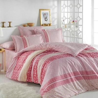 Комплект постельного белья поплин «Emma» розовый Hobby