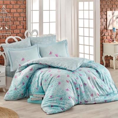 Комплект постельного белья сатин «Maria» берюза Hobby