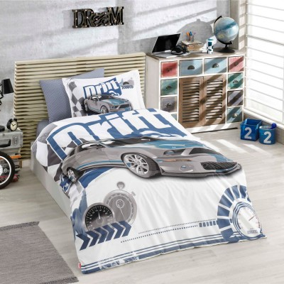 Комплект постельного белья поплин «Drift» голуб Hobby