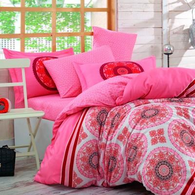 Комплект постельного белья поплин «Silvana» розовый Hobby