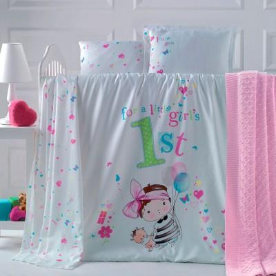 Детский комплект постельного белья ранфорс «Bambina» Luoca Patisca