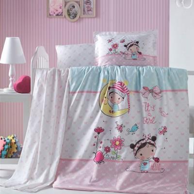 Детский комплект постельного белья ранфорс «Bellini» Luoca Patisca