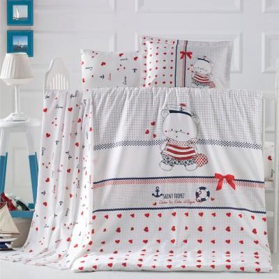 Детский комплект постельного белья ранфорс «Larina» Luoca Patisca