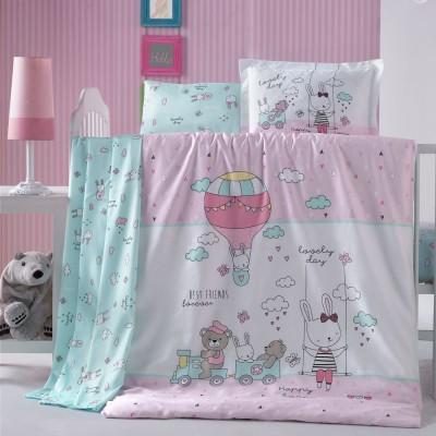 Детский комплект постельного белья ранфорс «Parco» Luoca Patisca