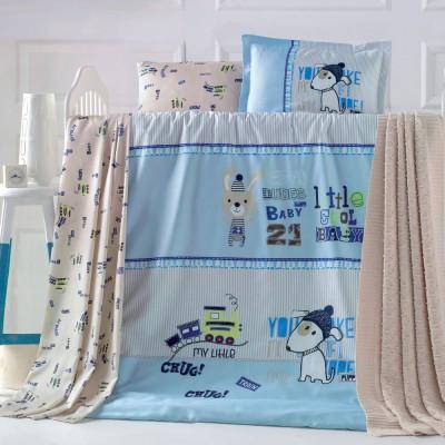 Детский комплект постельного белья ранфорс «Playfull» Luoca Patisca