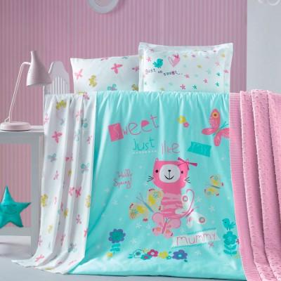 Детский комплект постельного белья ранфорс «Gatto» Luoca Patisca