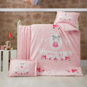 Детский комплект постельного белья ранфорс «Pretty Girl» Luoca Patisca