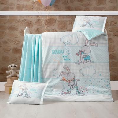 Детский комплект постельного белья ранфорс «Rabbit» Luoca Patisca