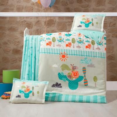 Детский комплект постельного белья ранфорс «Flyinn» Luoca Patisca