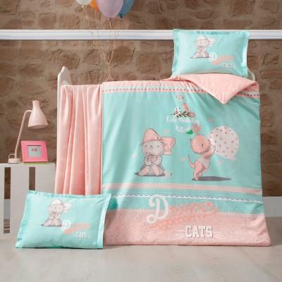Детский комплект постельного белья ранфорс «Kity» Luoca Patisca