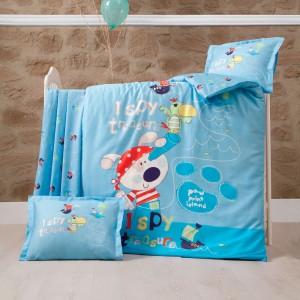 Детский комплект постельного белья ранфорс «Island» Luoca Patisca