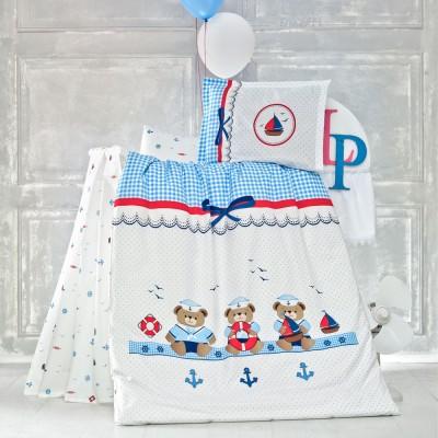 Детский комплект постельного белья ранфорс «Sailor» Luoca Patisca