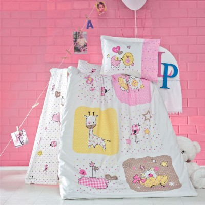 Детский комплект постельного белья ранфорс «Mezze» Luoca Patisca