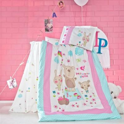 Детский комплект постельного белья ранфорс «Whisper» Luoca Patisca