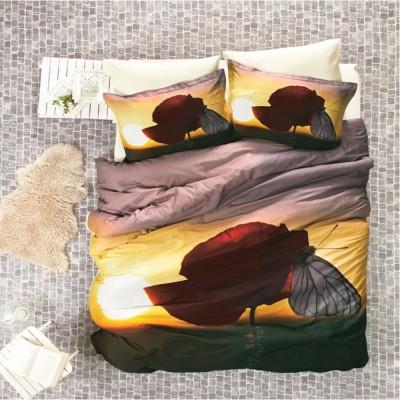 Комплект постельного белья 3D сатин «White Butterfly» Luoca Patisca