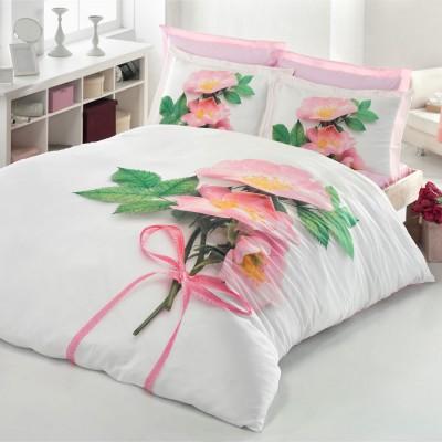 Комплект постельного белья 3D сатин «Liza» Luoca Patisca