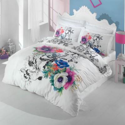 Комплект постельного белья 3D сатин «Mina» Luoca Patisca