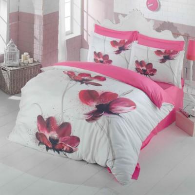 Комплект постельного белья 3D сатин «Petra» Luoca Patisca