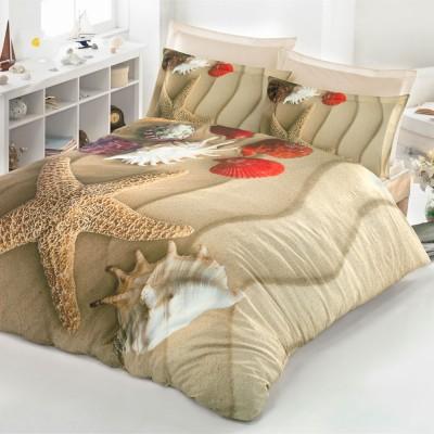 Комплект постельного белья 3D сатин «Shallow» Luoca Patisca