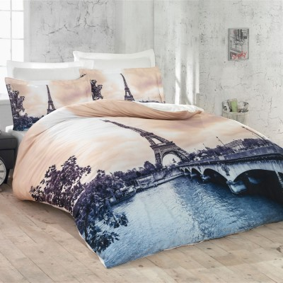 Комплект постельного белья 3D сатин «Romantic Paris» Luoca Patisca