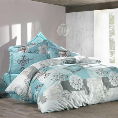 Комплект постельного белья ранфорс «Lace» береза Luoca Patisca