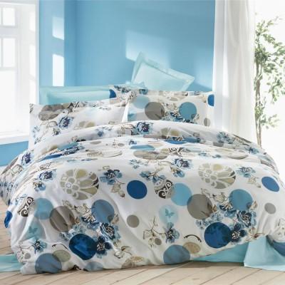 Комплект постельного белья ранфорс «Laura» голуб Luoca Patisca