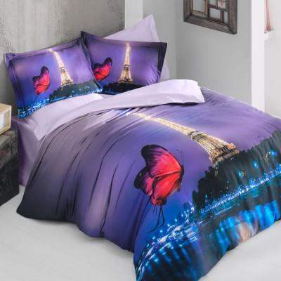 Комплект постельного белья 3D сатин «Paris Night» Luoca Patisca