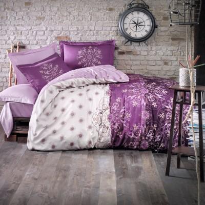Комплект постельного белья сатин «Alberica» фиолет Luoca Patisca