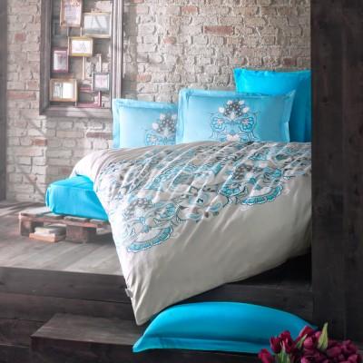 Комплект постельного белья сатин «Laissa» берюза Luoca Patisca