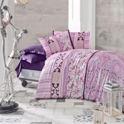 Комплект постельного белья сатин «Belissa» фиолет Luoca Patisca