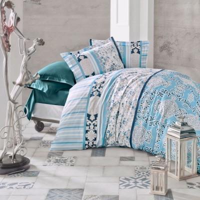 Комплект постельного белья сатин «Belissa» голуб Luoca Patisca