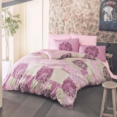 Комплект постельного белья ранфорс «Ottorino» розовый Luoca Patisca