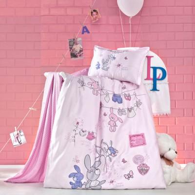 Детский комплект постельного белья ранфорс «Little» Luoca Patisca
