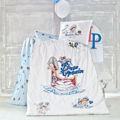 Детский комплект постельного белья ранфорс «Pirate» Luoca Patisca