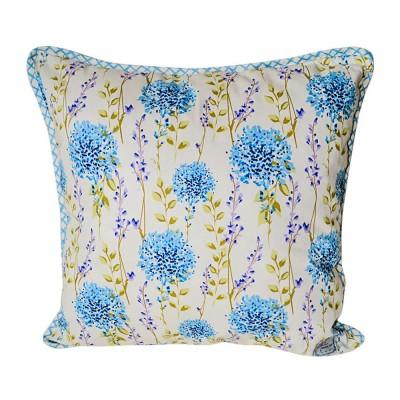 Подушка декор «Голубая клетка» Прованс