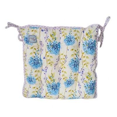 Подушка на стул «Сиреневая клетка» Прованс