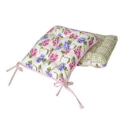 Подушка на стул «Оливковая клетка» Прованс