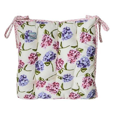 Подушка на стул «Розовая клетка» Прованс