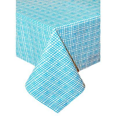 Скатерть «Голубая клетка» Прованс