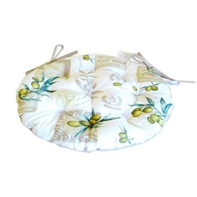 Подушка круглая на стул «Оливка» Прованс