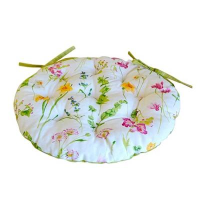 Подушка круглая на стул «Весна» Прованс