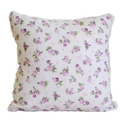 Подушка декор «Lilac Rose» с кружевом | Прованс